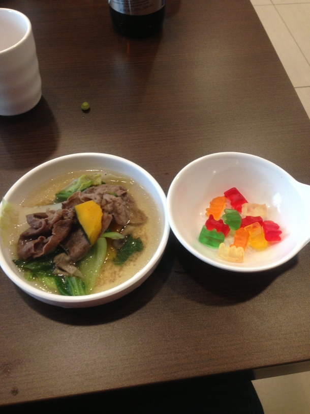 Yeah, I got a side of gummi bears with my shabu shabu.