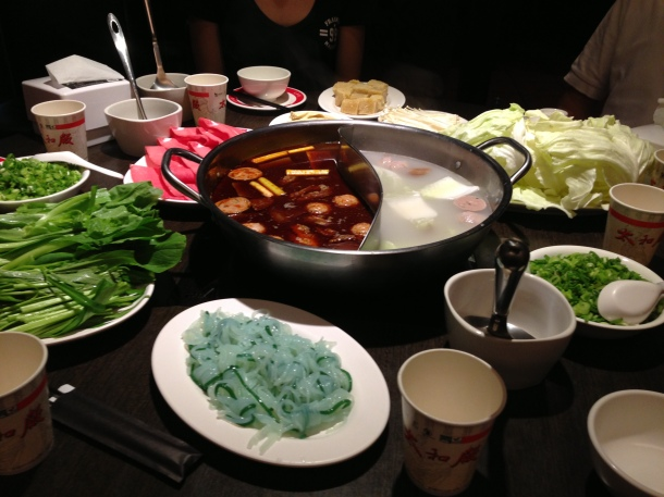 Hot pot dinner, I hardly knew ye