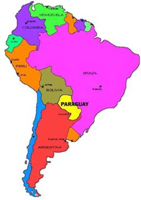 Poor Paraguay in yellow