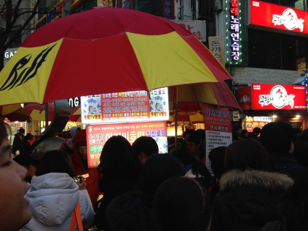 Apparently this is the original food cart that started serving the hotteok.