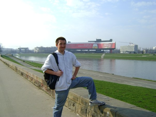 Me being dashing next to the Vistula