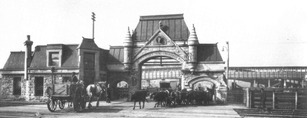 The Union stockyard gate then...