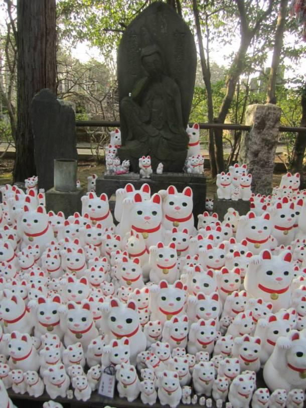 Example: I went to the origin of those cat statues in every Chinese/Japanese restaurant