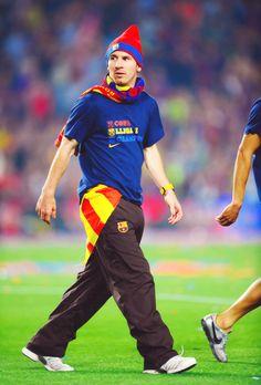 Messi reppin' Catalunya!